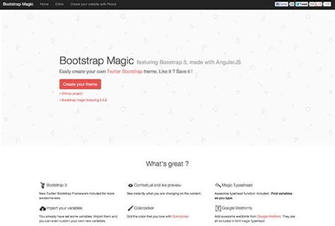 bootstrap themes variables bootstrap magic featuring boostrap 3 freebiesbug