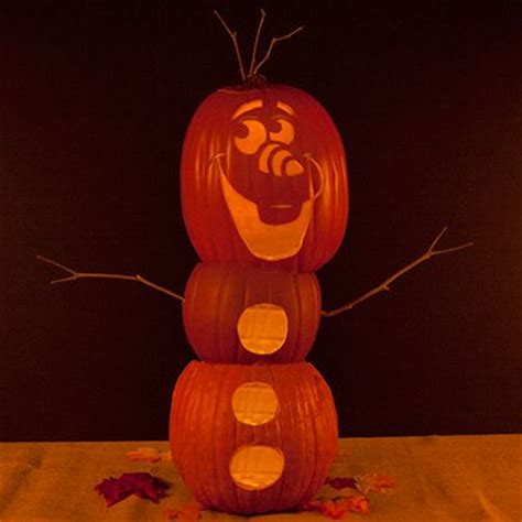 olaf pumpkin carving template disney family