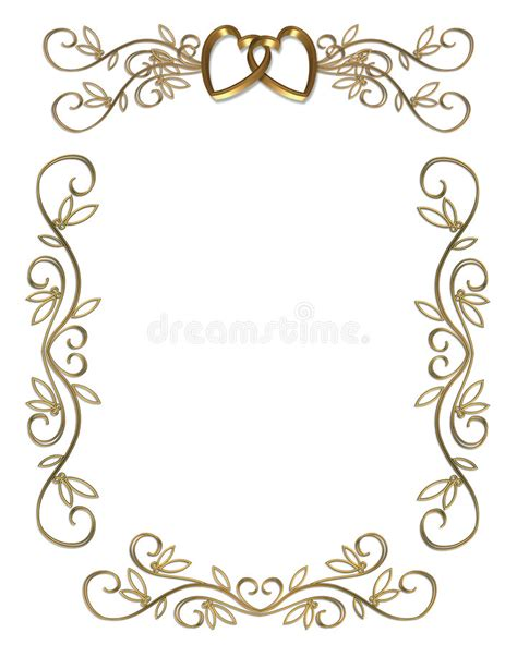 Invitation Letter Border Wedding Or Invitation Gold Border Stock Illustration Image 5534398