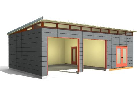 24 x 34 garage shop modern shed design westcoast outbuildings