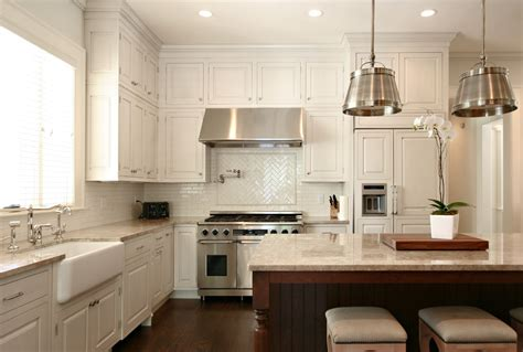 Houzz White Kitchens Kitchen Transitional With Dark Wood Traditional White Kitchen Cabinets