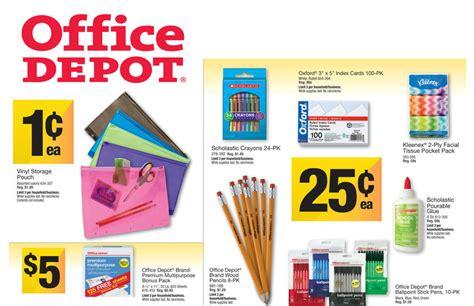 Office Supplies Office Depot Office Depot School Supply Deals For Week Of 8 4 13