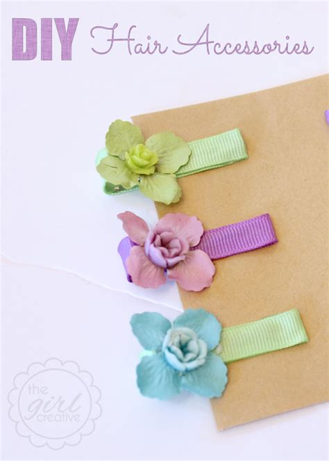 Handmade Hair Accessories - easy diy hair the creative