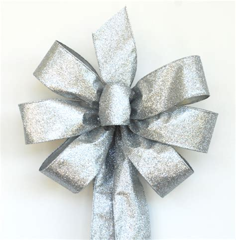 silver bows for tree handmade wreath bows