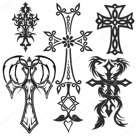 cruces tatuajes tribales archivo im 225 genes vectoriales