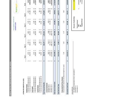 Mba Excel Model by Business Template Excel Model