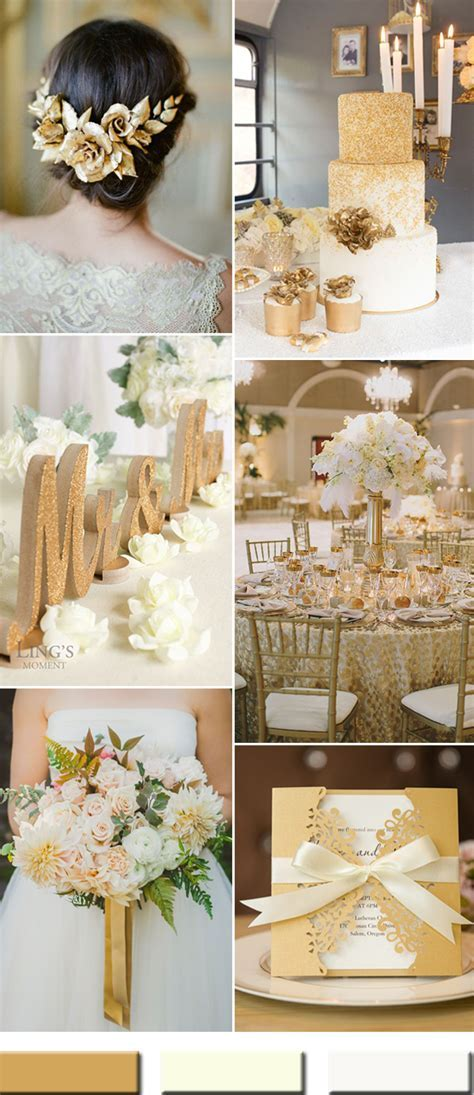 2017 the Best Gold Wedding Colors Combos Trends ? Stylish