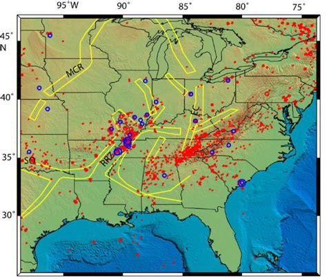 map us fault lines new madrid seismic region fault line maps page 4