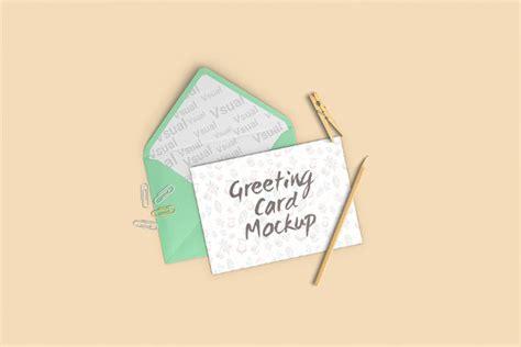 greeting card mockup templates  premium