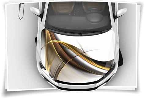 Motorhauben Aufkleber Airbrush by Gold Modern Linien Abstrakt Motorhaubenaufkleber Aufkleber