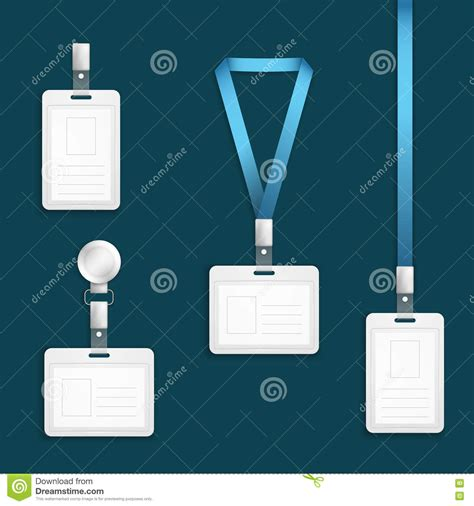 Https Access Templates Tag Time Card Html by Lanyard With Tag Badge Holder Stock Image Cartoondealer