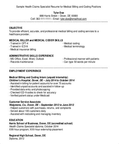 amusing medical coding fresher resume format about medical coding