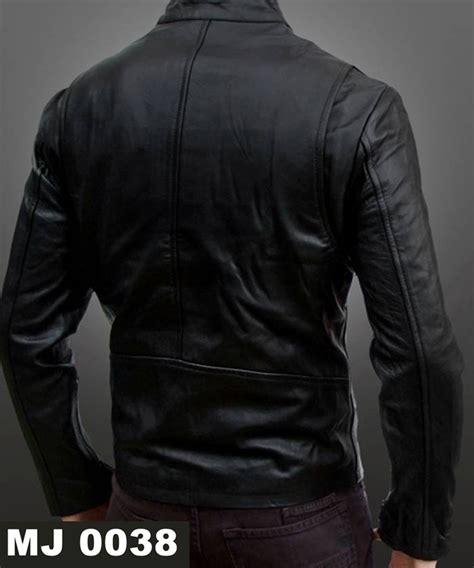 Jaket Kulit Pria Warna Hitam jaket pria mj 0038 warna hitam