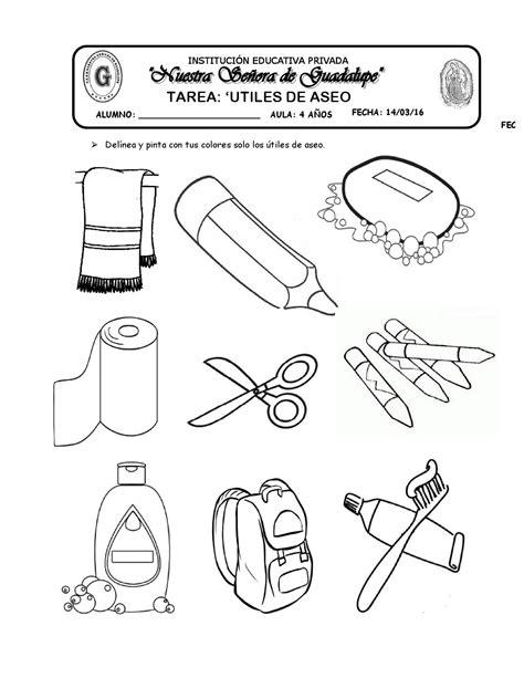 imagenes para colorear utiles de aseo personal tarea utiles de aseo by katy hormiguita issuu