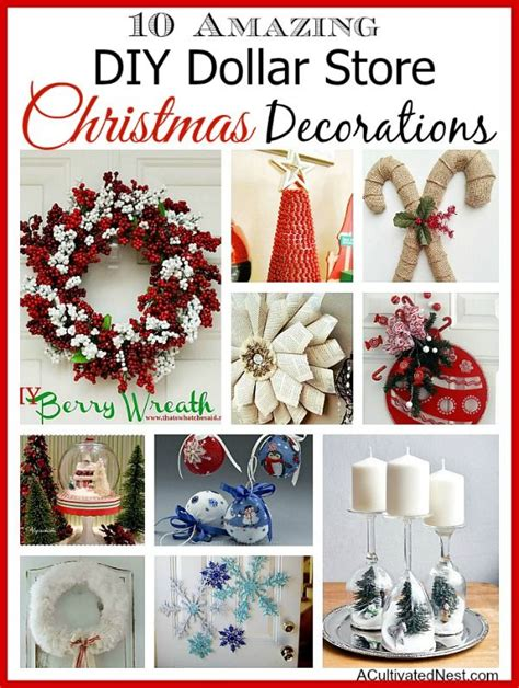 10 diy dollar store holiday decorations beautiful bebe