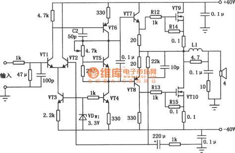 mosfet transistor audio lifier mosfet 80 w audio power lifier circuit audio circuit circuit diagram seekic