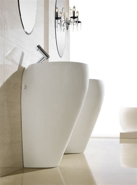 Modern Pedestal Bathroom Sinks Modern Pedestal Sink Contemporary Pedestal Sink Cerchio