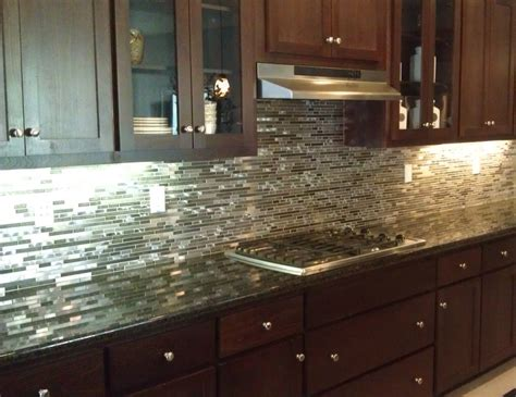 Metallic Kitchen Backsplash stainless steel backsplash build with enns