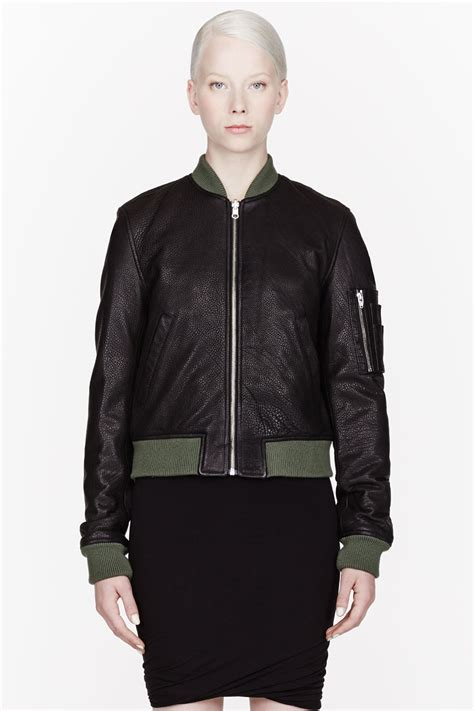 by alexander wang womens leather top style styles t by alexander wang black green pebbled leather