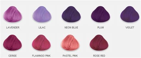 raw hair dye color chart hair dye hair swatches lilac pink violet image