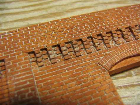 Corbel Bricks hydrocal castings by c c model railroad craftsman structure kits and masonry