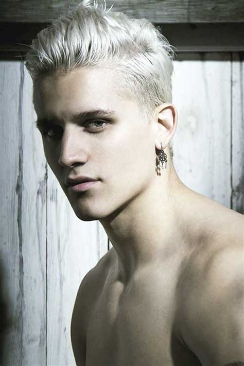 White Hairstyles by 15 With White Hair Mens Hairstyles 2018