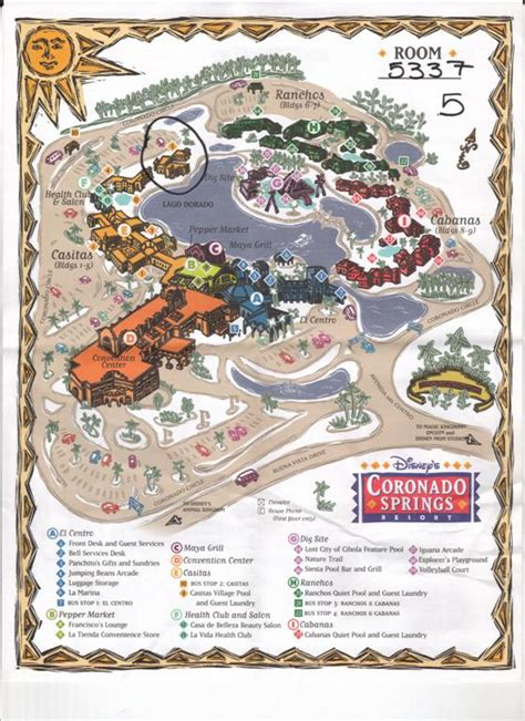 coronado springs resort map coronado springs resort map pictures to pin on pinsdaddy