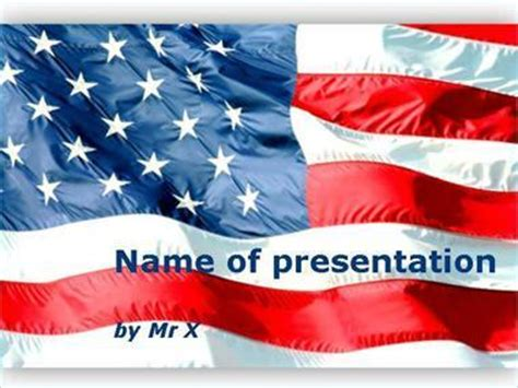 Waving American Flag Powerpoint Template American Flag Powerpoint Template