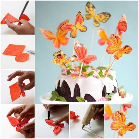 How To Make Paper Butterfly Decorations - diy easy folded paper butterflies