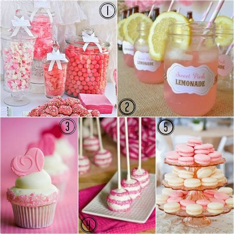 wedding shower decorations ideas at pretty in pink bridal shower ideas