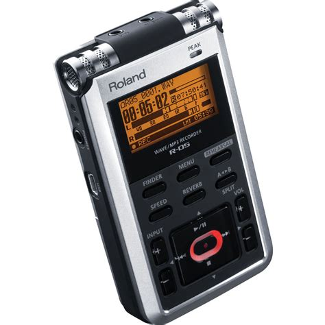 digital recorder roland r 05 portable 24 bit digital audio recorder r 05 b h