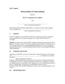 memorandum of understanding template word 10 best images of exle memorandum of understanding