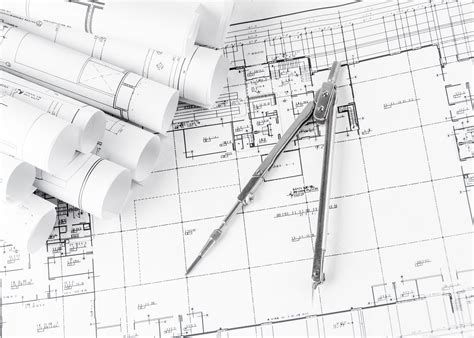 design blueprints rolls of architecture blueprints and house plans signs