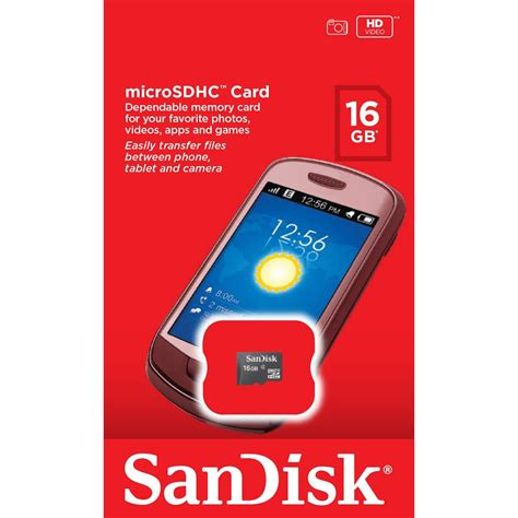Micro Sd Sandisk 4 Gb buy sandisk 16 gb class 4 micro sd memory card in