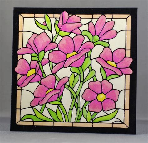 flower design for glass painting glass painting outline designs of flowers google search