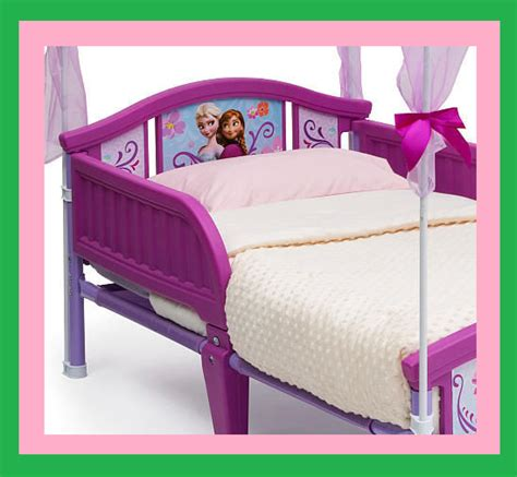 Frozen Toddler Bed With Canopy by Disney Frozen Canopy Toddler Bed Topped With A Canopy And