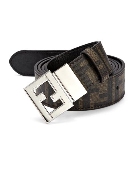 fendi reversible belt in brown for lyst
