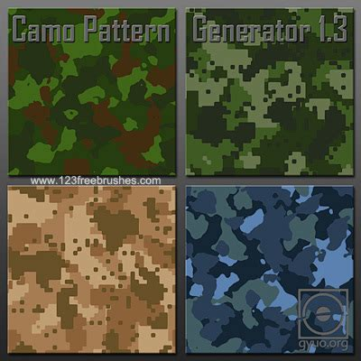 pattern generator photoshop action camo pattern generator 123freebrushes
