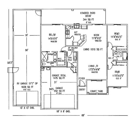rv garage floor plans 1610 seville floor plan seville builders inc seville