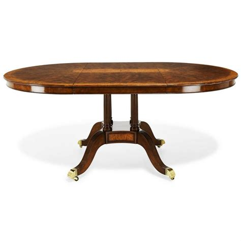 Furniture Round Walnut Extending Dining Table Pedestal Oval Pedestal Dining Table