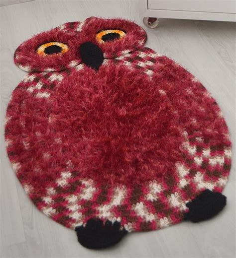 free crochet owl rug pattern crochet owl rug make handmade crochet craft