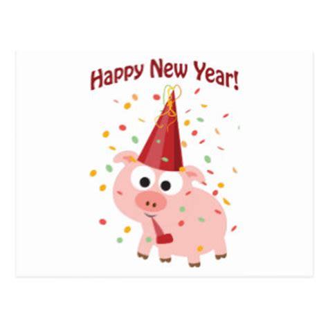 new year for the pig gelukkig varken kaarten uitnodigingen fotokaarten meer