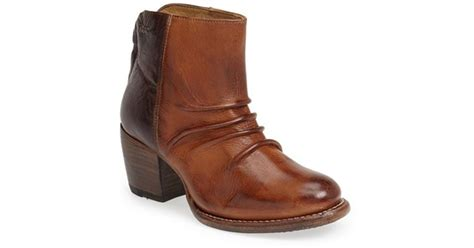 bed stu arcane leather ankle boot in brown lyst
