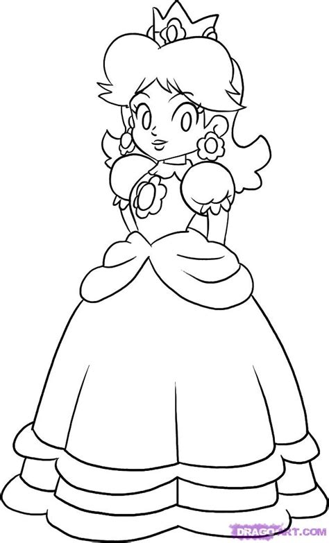 princess peach and daisy coloring pages az coloring pages