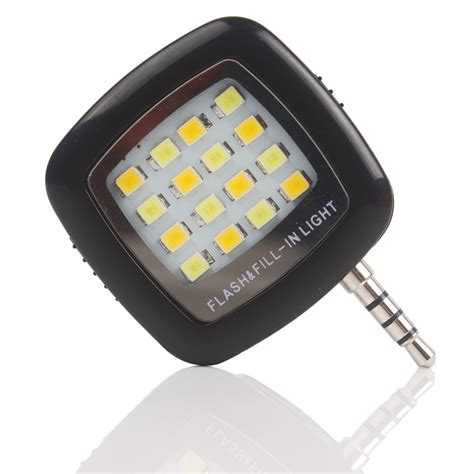 cell phone led light led flash fill light 16 leds for iphone ios android 3 5mm