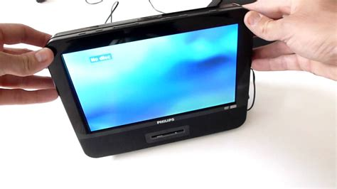 philips dual screen in car portable dvd player pet