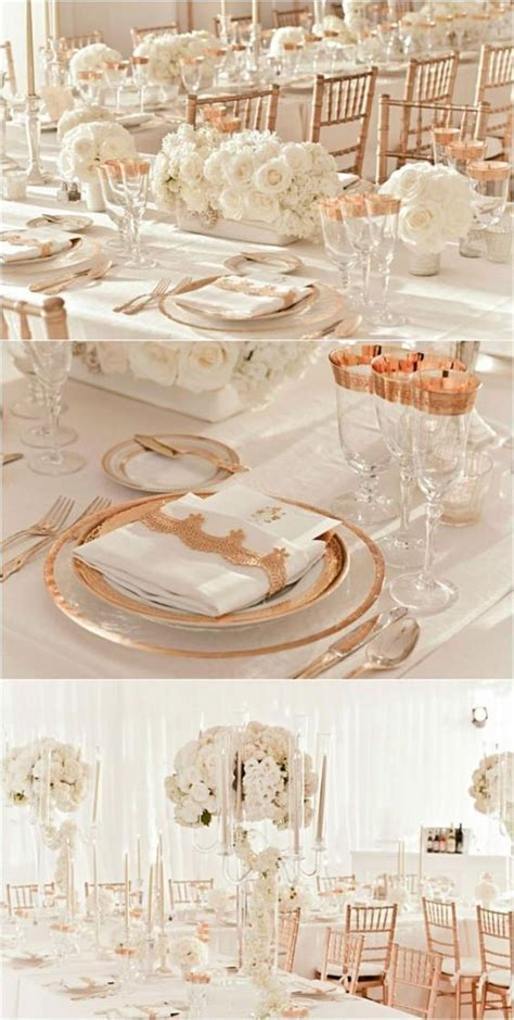 Rose Gold Wedding Inspiration..omg add navy blue to the