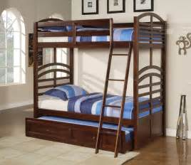 Trundle Bed Bunk Kevin Espresso Bunk Bed With Trundle