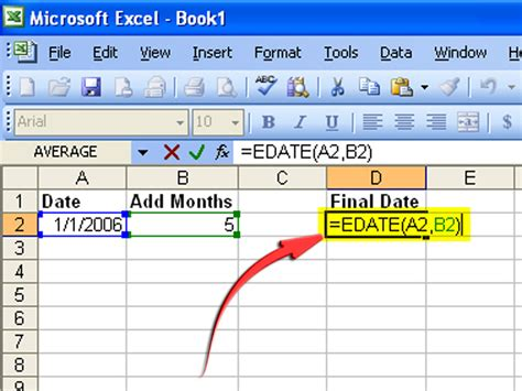 Calendar Calculator Add Weeks How To Create A Formula To Increase A Date By 1 Month 6 Steps