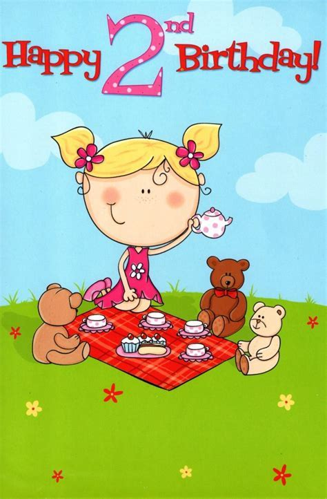 2 Today Special Age Girls 2nd Birthday Card   Cards   Love